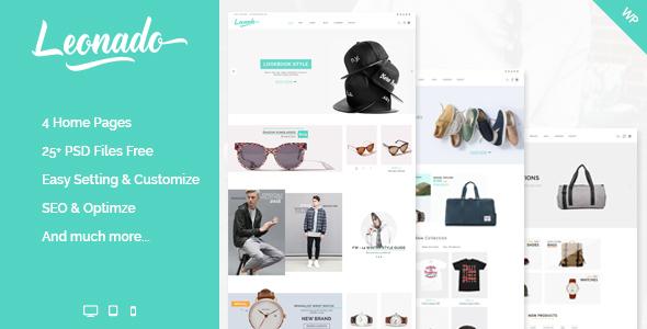 Wordpress Shop Template Leonado - Multi-Concepts WooCommerce WordPress Theme