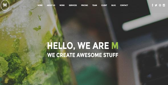 Wordpress Kreativ Template M - Creative Multi-Purpose WP One Page Theme