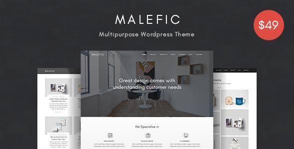 Wordpress Kreativ Template Malefic - Multipurpose One Page Responsive WordPress Theme
