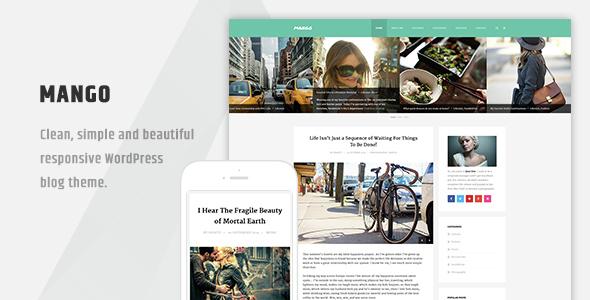 Wordpress Blog Template Mango - Clean Responsive WordPress Blog Theme