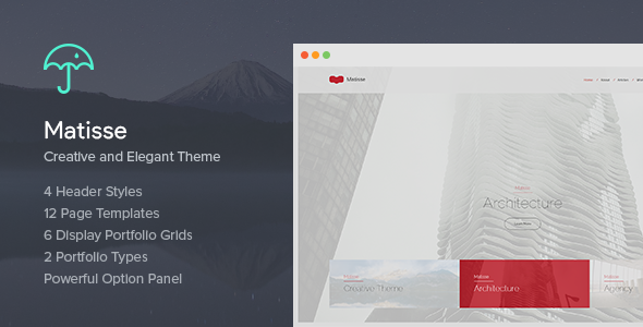 Wordpress Kreativ Template Matisse - Creative & Elegant Theme