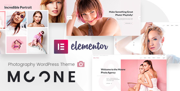 Wordpress Kreativ Template Moone - Photography Portfolio WordPress Theme
