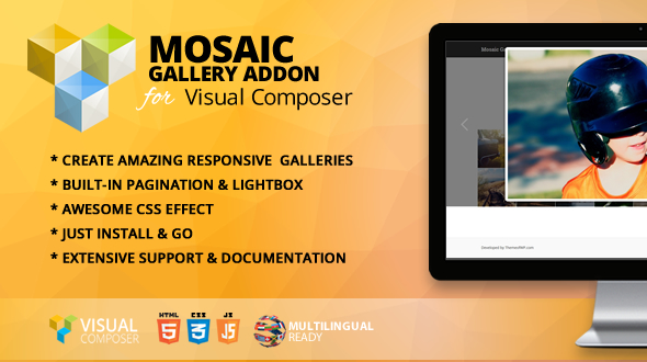 Wordpress Add-On Plugin Mosaic Gallery Addon for WPBakery Page Builder (formerly Visual Composer)
