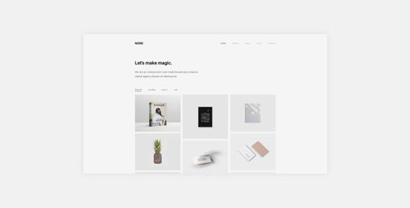 Wordpress Kreativ Template Nord - Minimal Portfolio WordPress Theme