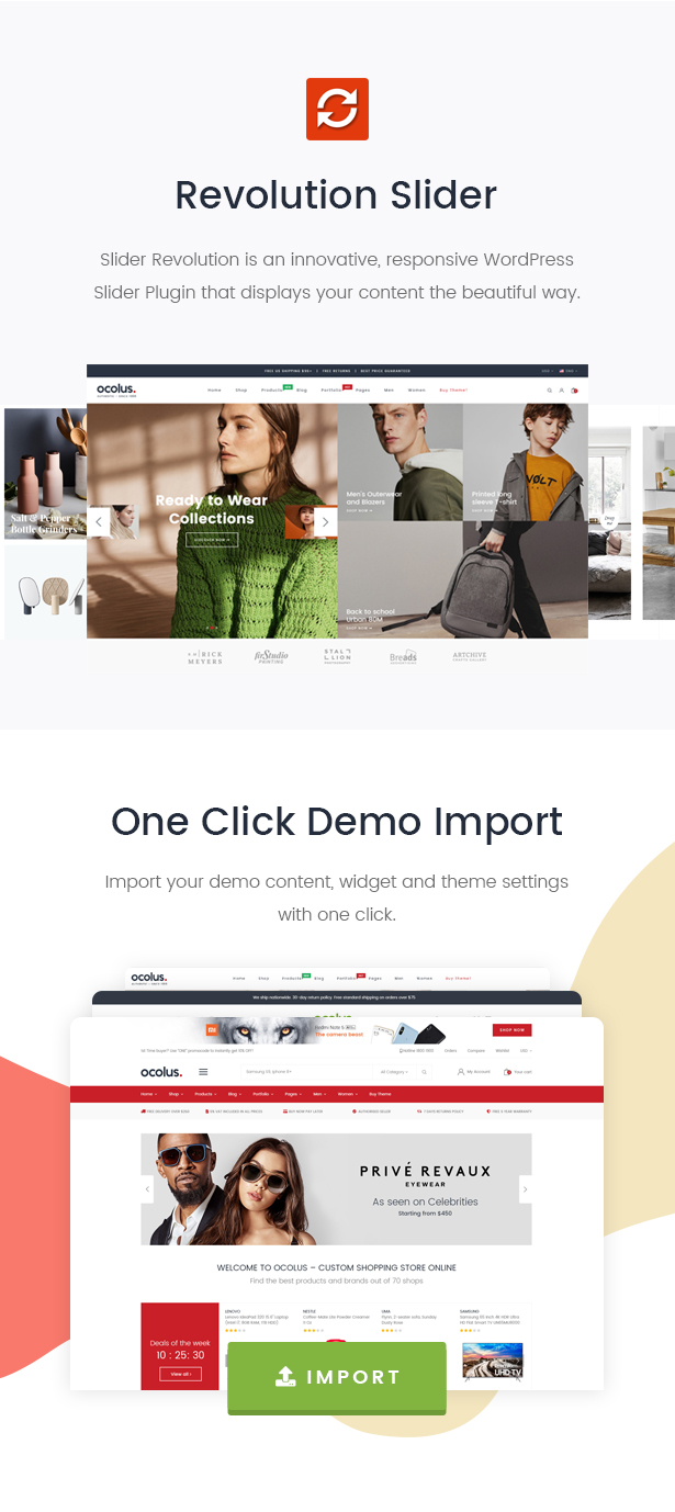 Ocolus - Multi-Zweck-WooCommerce-Vorlage