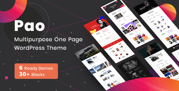 Wordpress Kreativ Template OnePage Parallax PAO -  OnePage  WordPress