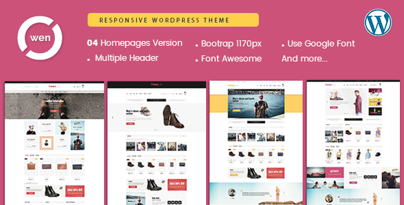 Wordpress Shop Template Owen - Mobile Optimized Multipurpose WordPress Theme