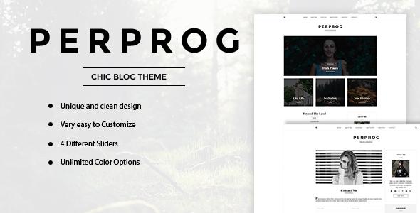 Wordpress Blog Template PerProg - Minimalist WordPress Blog Theme