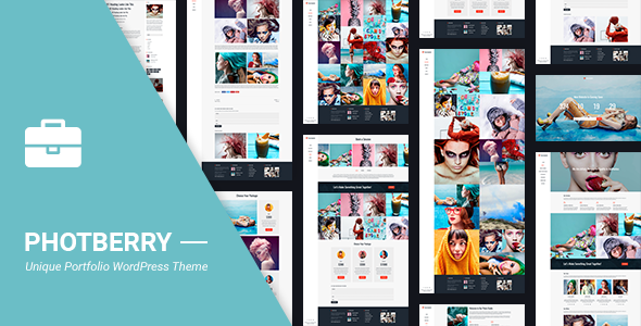 Wordpress Kreativ Template Portfolio | Photberry Portfolio WordPress for Portfolio