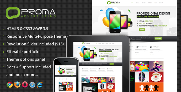 Wordpress Corporate Template Proma - Responsive Multi-Purpose Theme