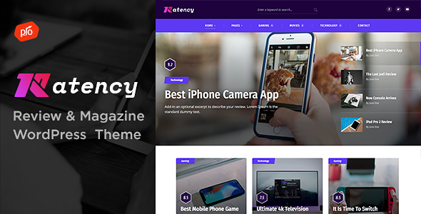 Wordpress Blog Template Ratency - Review & Magazine Theme