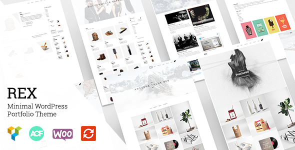 Wordpress Kreativ Template Rex - Minimal WordPress Portfolio Theme