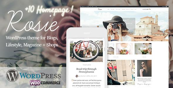 Wordpress Blog Template Rosie - A Beautiful WordPress Blog and Shop Theme