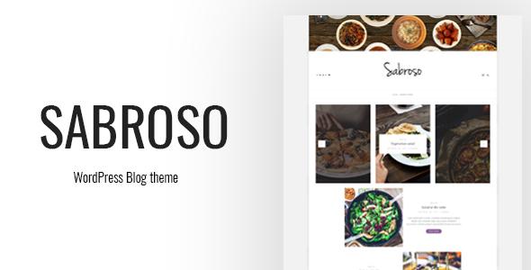 Wordpress Blog Template Sabroso - A WordPress Theme for Food Bloggers