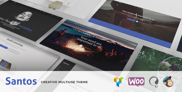 Wordpress Kreativ Template Santos - Modern Multi-Purpose Theme