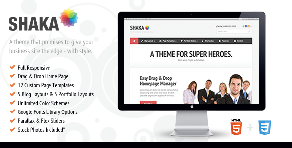 Wordpress Corporate Template Shaka - Responsive Business WP Theme