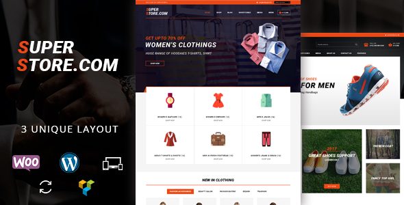 Wordpress Shop Template Super Store - Multipurpose WooCommerce Theme
