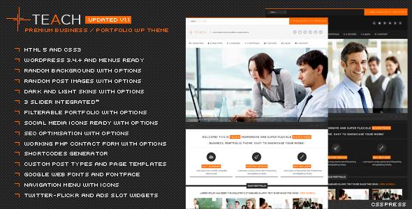 Wordpress Corporate Template Teach - Flexible Business Portfolio WP Theme