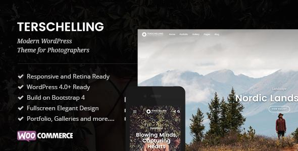 Wordpress Kreativ Template Terschelling - Modern Photography WordPress Theme