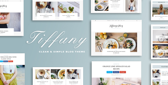 Wordpress Blog Template Tiffany - Clean and Simple WordPress Blog Theme