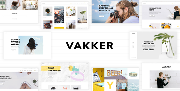 Wordpress Kreativ Template Vakker - A Creative Theme for Designers and Agencies