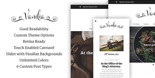 Wordpress Blog Template Vanilia - WordPress Blogging Theme
