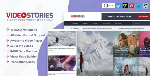 Wordpress Blog Template VideoStories – WordPress Video Theme
