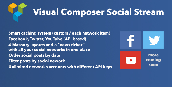 Wordpress Add-On Plugin Visual Composer Social Stream