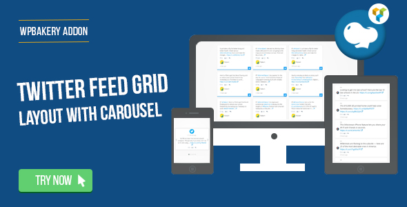 Wordpress Add-On Plugin WPBakery Page Builder - Twitter Feed Grid With Carousel(formerly Visual Composer)
