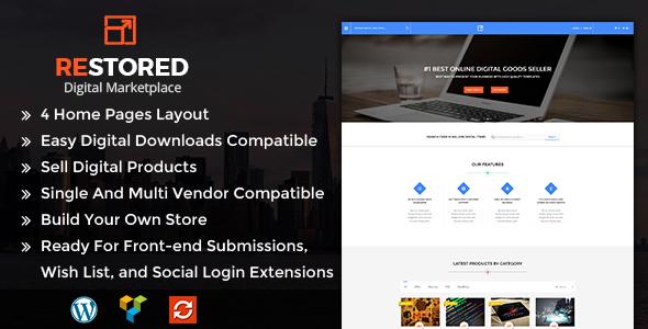 Wordpress Shop Template Restored MarketPlace - MarketPlace WordPress Theme