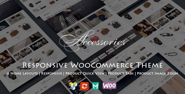 Wordpress Shop Template WooAccessories - Responsive WordPress Theme