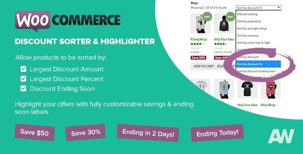 Wordpress E-Commerce Plugin WooCommerce Discount Sorter & Highlighter