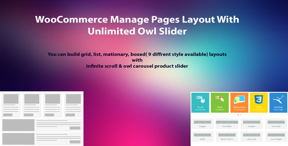 Wordpress E-Commerce Plugin WooCommerce Manage Pages Layout With Unlimited Owl Slider