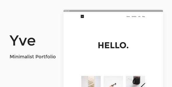 Wordpress Kreativ Template Yve - Minimalist Portfolio Theme