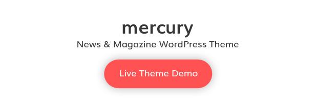 Mercury WordPress Live Vorlage Demo