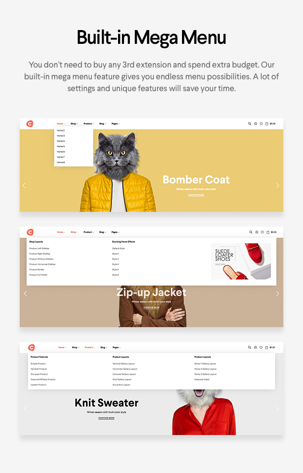 Ciao - Minimalistisches Element oder WooCommerce Template - 11