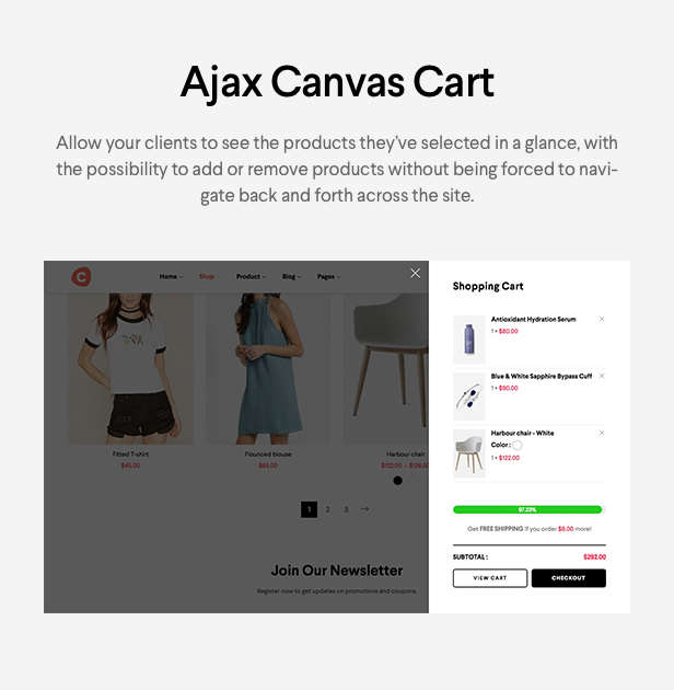 Ciao - Minimalistisches Element oder WooCommerce Template - 12