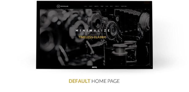 Minimalisieren | Einzelseiten-Vorlage