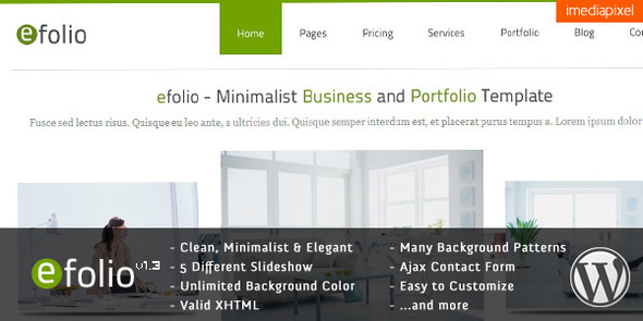 Wordpress Corporate Template efolio - Business and Portfolio WordPress Theme
