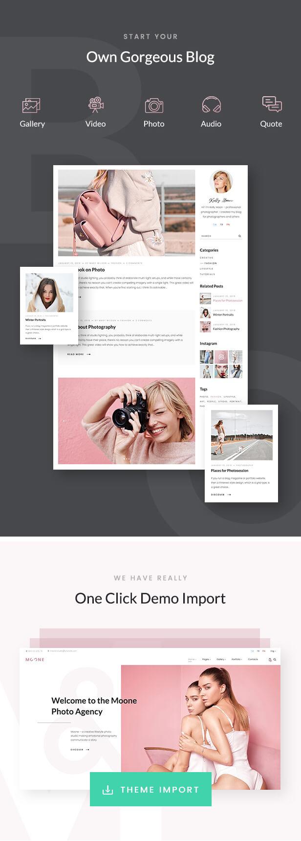 Moone - Fotografie Portfolio WordPress Layout - 4