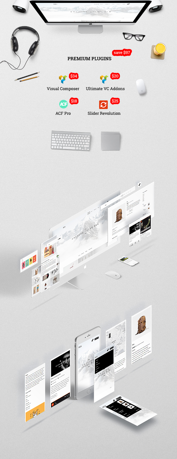 Rex - Minimales WordPress-Portfolio-Design - 1