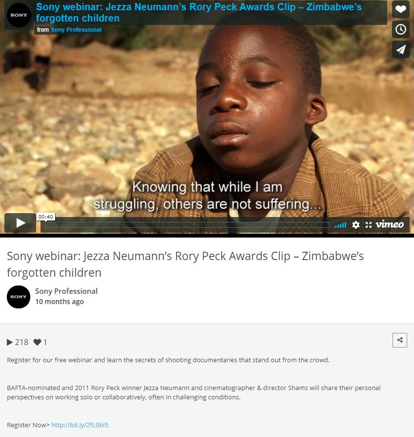 Vimeo Social Streams
