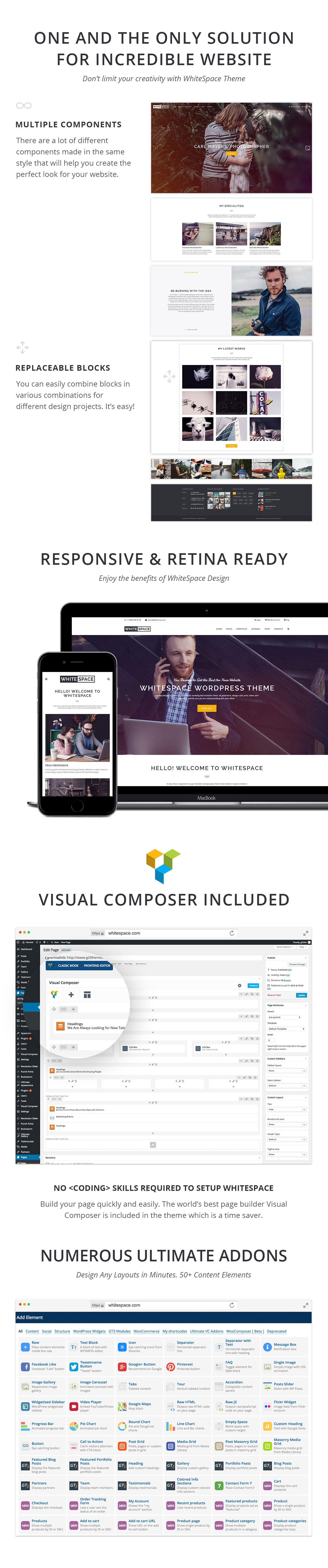 WordPress-Template für das Portfolio - WhiteSpace - 2