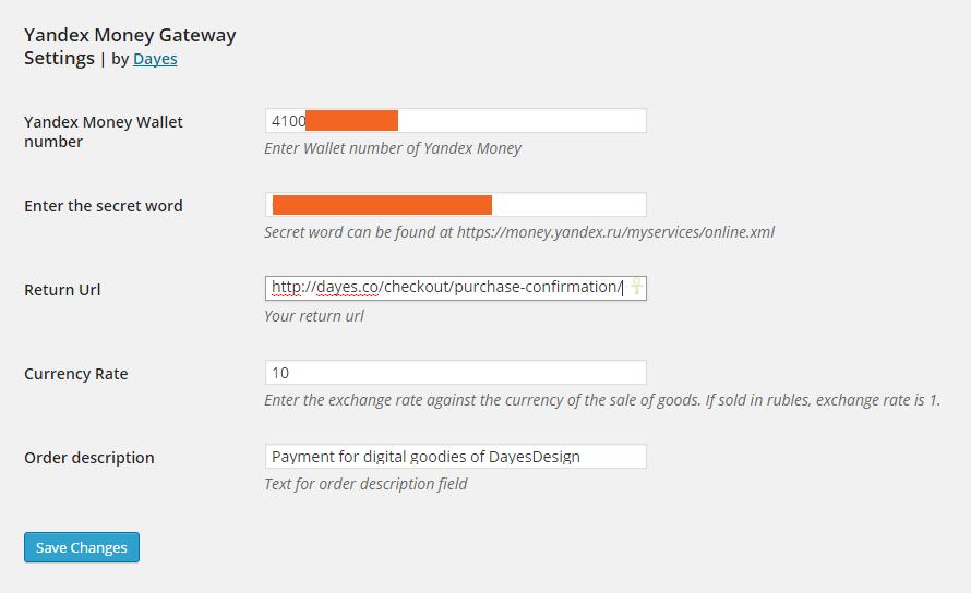 Yandex Money Payment Gateway für EDD - 4