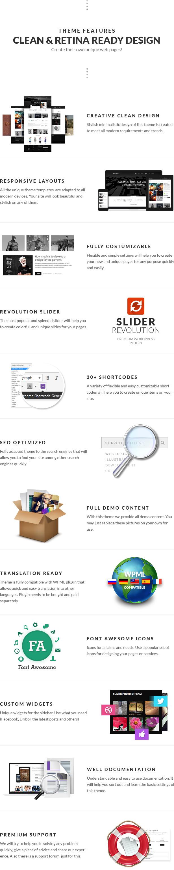 Schwarz - Premium-Mehrzweck-WordPress-Vorlage - 6