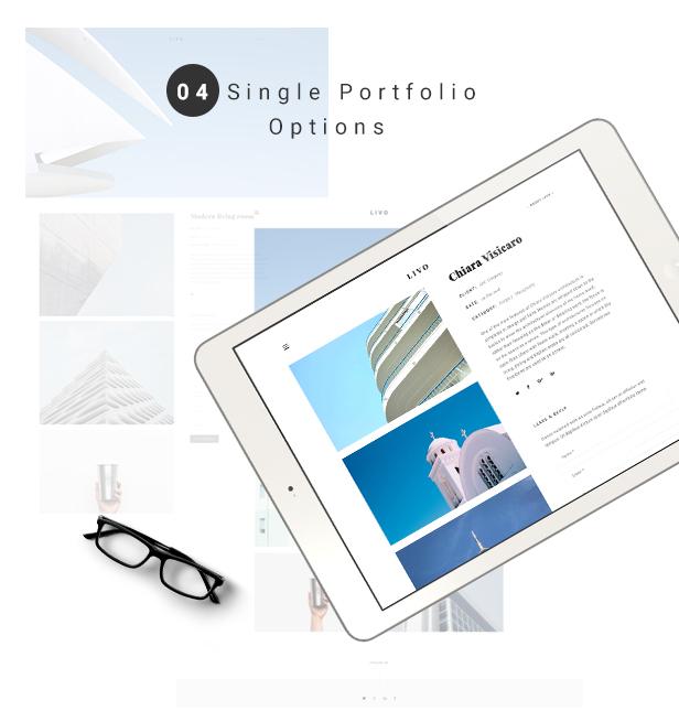 Livo - Ein sauberes und minimales Portfolio WordPress Vorlage - 4