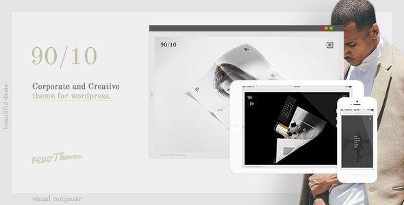 Wordpress Kreativ Template 9010 - Corporate and Creative Theme for WordPress