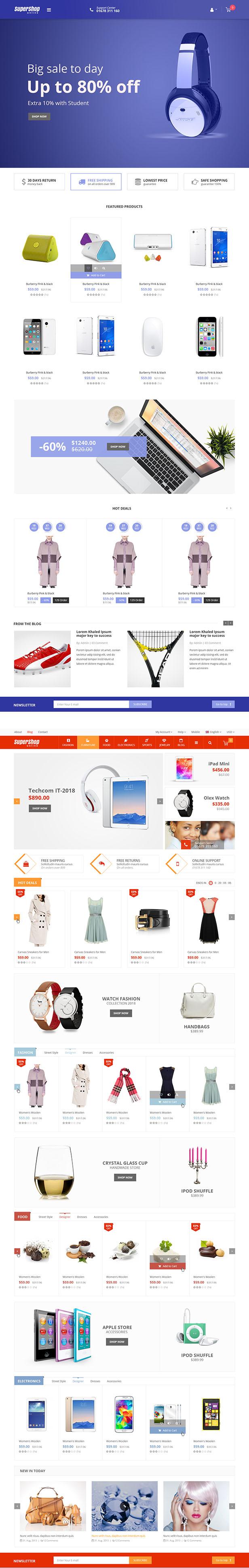 Super Shop - Marktgeschäft RTL Responsive WooCommerce WordPress Template - 4