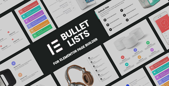 Wordpress Add-On Plugin Bullets Lists Addons for Elementor Page Builder