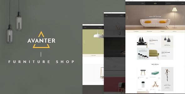 Wordpress Shop Template Avanter - WooCommerce Responsive WordPress Theme